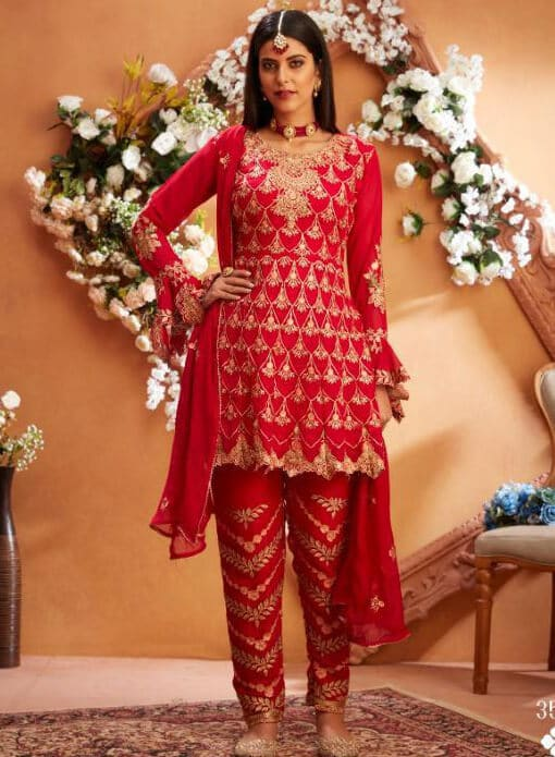 Mariab Red Suit