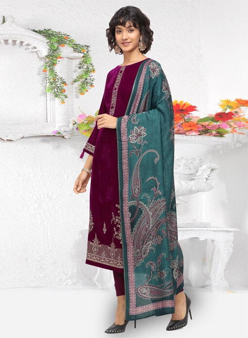 buy Velvet Suits online at omzara.com