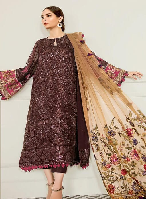 Coffee Brown pakistani suit