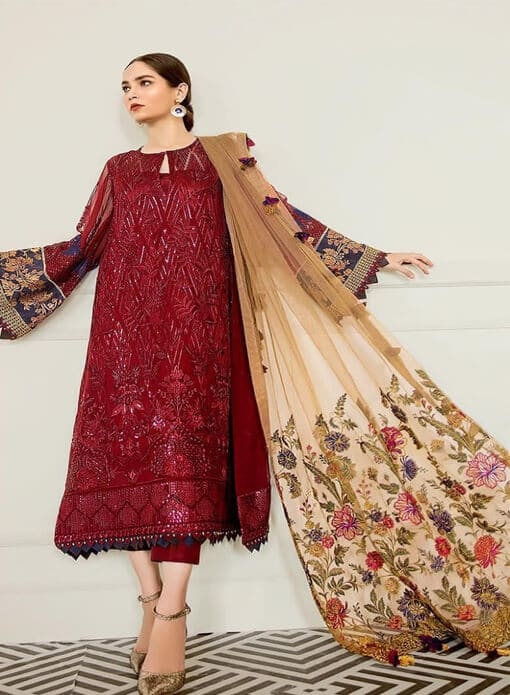 wine pakistani suits